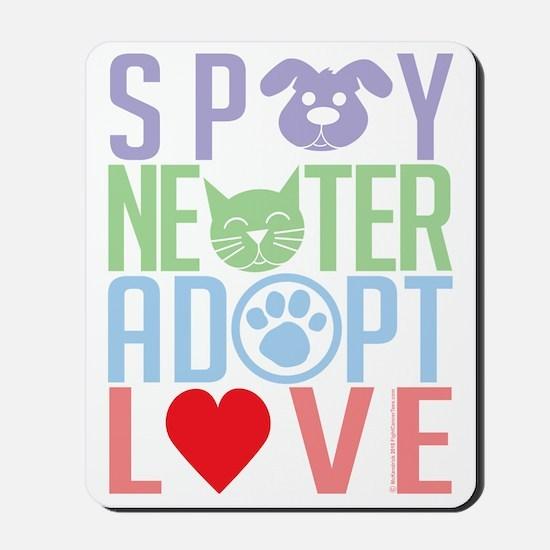 Spay-Neuter-Adopt-Love-2010 Mousepad