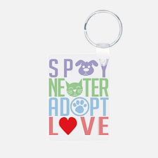 Spay-Neuter-Adopt-Love-201 Keychains
