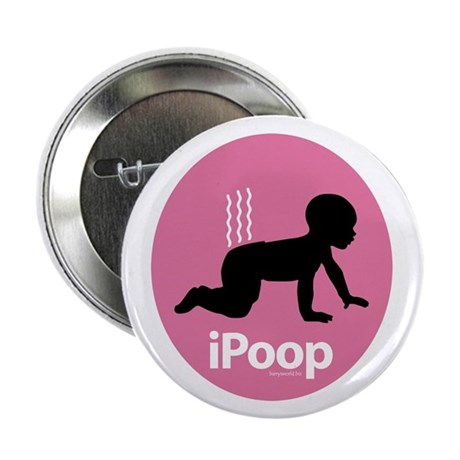"iPoop (Pink) 2.25"" Button (10 pack)"