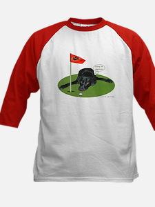 Black Lab Golfer Kids Baseball Jersey