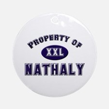 Property of nathaly Ornament (Round)