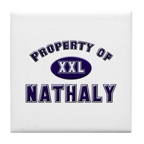 Property of nathaly Tile Coaster