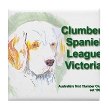 Unique Clumber spaniel Tile Coaster