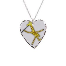 Clarinet Giraffe Necklace Heart Charm