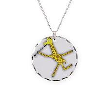 Clarinet Giraffe Necklace Circle Charm