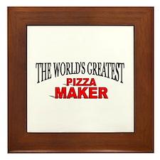 """""""The World's Greatest Pizza Maker"""" Framed Tile"""