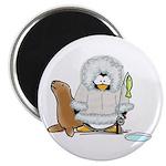 Eskimo Penguin Magnet