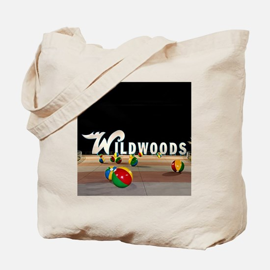 Wildwoods Sign Wildwood New Jersey Tote Bag
