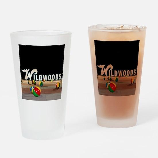 Wildwoods Sign Wildwood New Jersey Drinking Glass