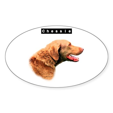 Chessie Head Oval Sticker