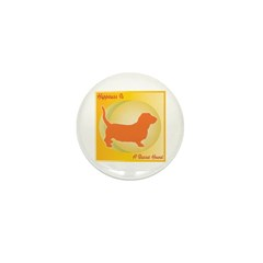 Basset Happiness Mini Button (100 pack)