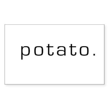 Potato Rectangle Sticker
