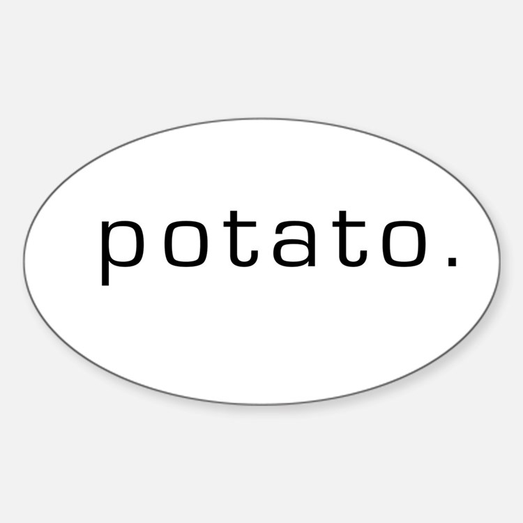 Potato Oval Decal