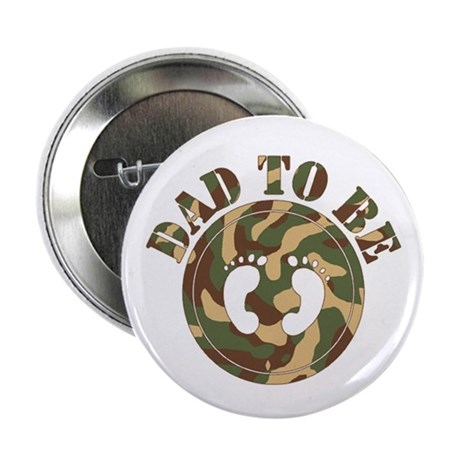 Dad To Be (Camo) Button