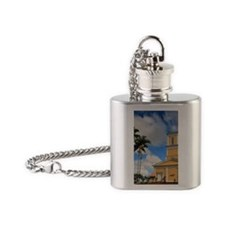 Haili Church, Hilo, Island of Hawai Flask Necklace