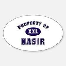 Property of nasir Oval Decal