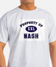 Property of nash Ash Grey T-Shirt