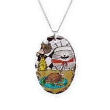 Thanksgiving cats Necklace