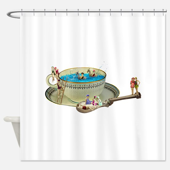 Funny Vintage pinup Shower Curtain