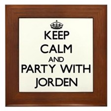 Keep Calm and Party with Jorden Framed Tile