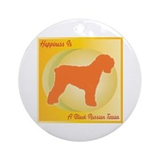 Terrier Happiness Ornament (Round)