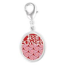 team edward phone case 3 Silver Oval Charm