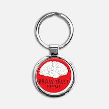 braintrustDrk Round Keychain