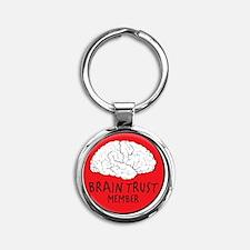 braintrust Round Keychain