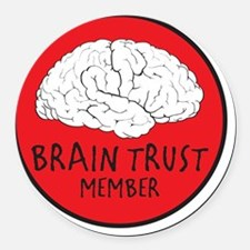 braintrust Round Car Magnet