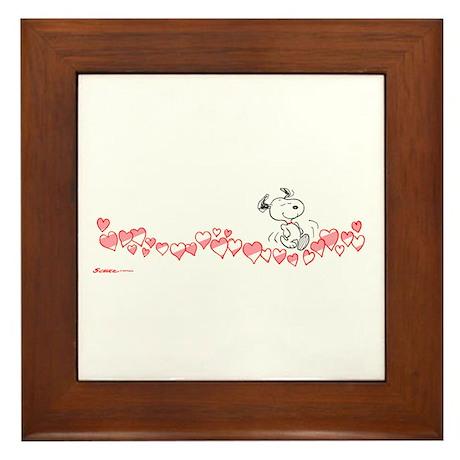 Happy Hearts Framed Tile