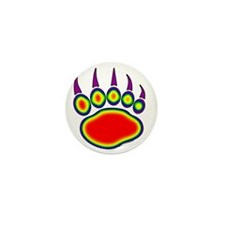030-Bear-Paw~Heat-Map Mini Button