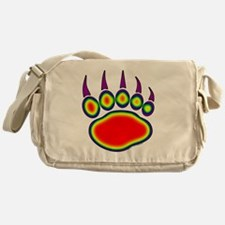 030-Bear-Paw~Heat-Map Messenger Bag