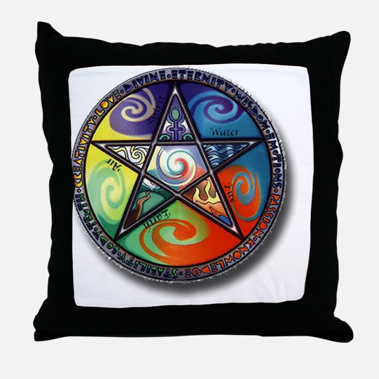 pentacle elements Throw Pillow