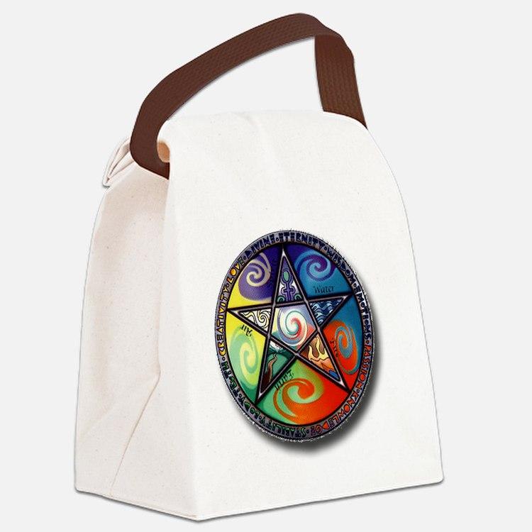 pentacle elements Canvas Lunch Bag
