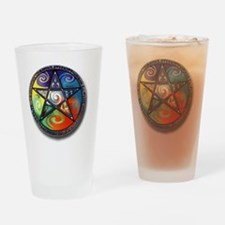 pentacle elements Drinking Glass