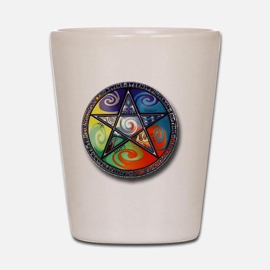 pentacle elements Shot Glass
