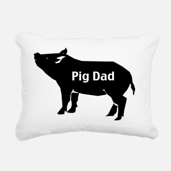pig dad-001 Rectangular Canvas Pillow