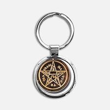 pentacle symbology Round Keychain