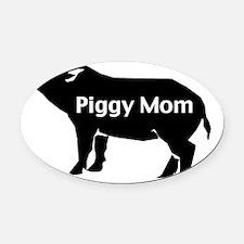 piggy mom-001 Oval Car Magnet