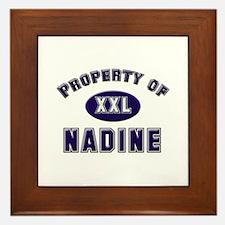 Property of nadine Framed Tile