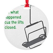Snowsports_Lifts_Closed_Green Ornament