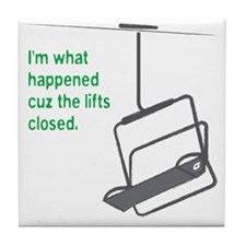 Snowsports_Lifts_Closed_Green Tile Coaster