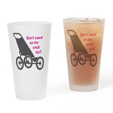 Running_SweatSmallStuff_Pink Drinking Glass