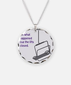 Snowsports_Lifts_Closed_Purp Necklace