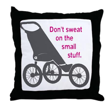 Running_SweatSmallStuff_Pink Throw Pillow