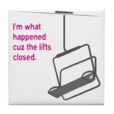 Snowsports_Lifts_Closed_Pink Tile Coaster