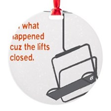 Snowsports_Lifts_Closed_Orange Ornament