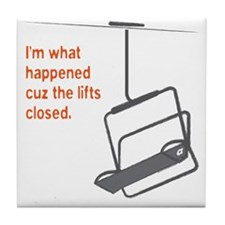 Snowsports_Lifts_Closed_Orange Tile Coaster