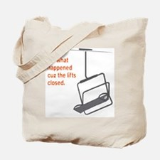 Snowsports_Lifts_Closed_Orange Tote Bag