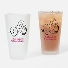 Yoga_HappyBaby_Pink Drinking Glass